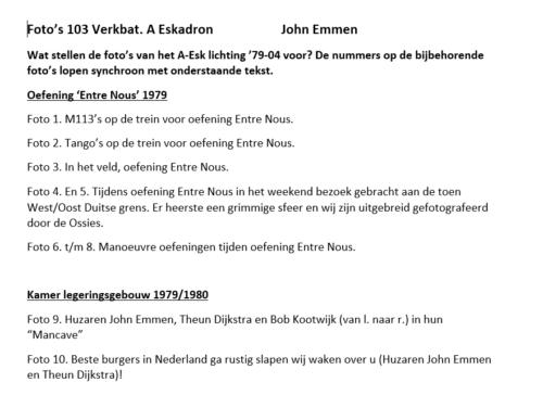 0. 1979 1980 A Esk 103 Verkbat 79 4 Verklarende tekst fotos 1 tm 60 Huz John Emmen 1 4