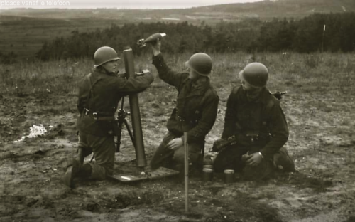 10. 1966 - 1967 A-Esk Kwinten 103 Verkbat Schietseries; M106 Mortier 120 mm