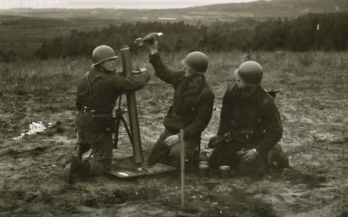 10. 1966 1967 A Esk Kwinten 103 Verkbat Schietseries M106 Mortier 120 mm