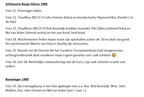 10a. 1979 1980 A Esk 103 Verkbat 79 4 Verklarende tekst fotos 1 tm 60 Huz John Emmen 2 4