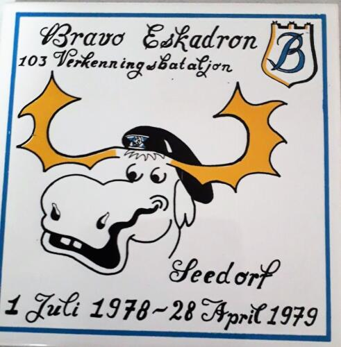 16d. 1976 1981 B Esk 103 Verkbat Tegeltjes bordje en t shirt Inz. Louis Beeke 5