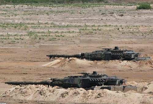 17. Rompgedekte opstelling Leopards II