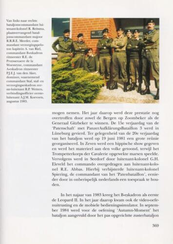 1961 - 2002 Par 31 'De Trakehners' Bron boek 'Huzaren van Boreel' uitg. 2003 auteur lkol A. Rens 11