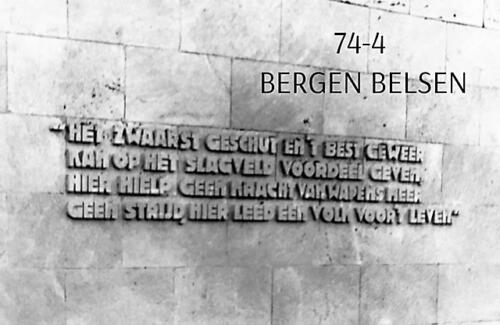 1974-1975 B-Esk li 103 Verkbat; Bezoek aan Bergen-Belsen. Inzender Frans Homminga  (3)