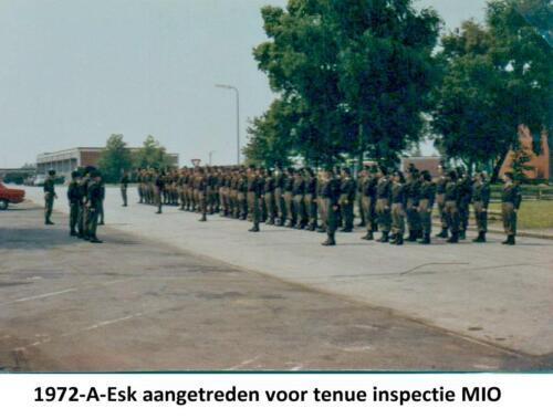 1972 A-Esk 103 Verkbat; MIO-inspectie. Aangetreden voor Mio-inspectie. Fotoboek Ritm R Meeder