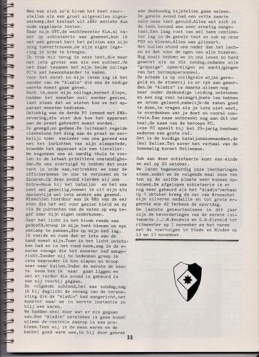 1986 'Contact, wacht uit'... Kroniek van 25 jaar 103 Verkenningsbataljon 33