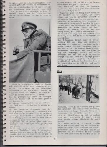 1986 'Contact, wacht uit'... Kroniek van 25 jaar 103 Verkenningsbataljon 27