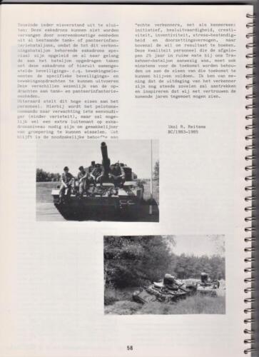 1986 'Contact, wacht uit'... Kroniek van 25 jaar 103 Verkenningsbataljon 58