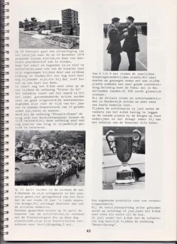 1986 'Contact, wacht uit'... Kroniek van 25 jaar 103 Verkenningsbataljon 43