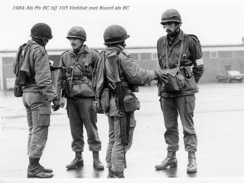 1984-08-25 103 Verkbat Oef Wildbaan; Uit het fotoboek van de Maj PBC R Meeder; BI Obdeijn, BC Reitsma e.a.