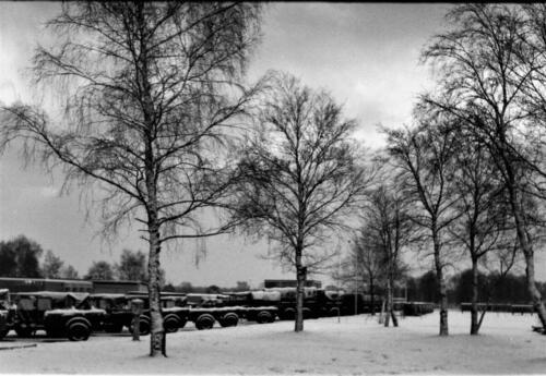 1966-1967 A-Esk 103 Verkbat; Winters landschap in Seedorf.  Uit het fotoarchief van Jan Stoffels