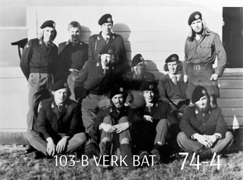 1974-1975 B-Esk li 74-4 103 Verkbat; Oefeningen en kazerneleven. Inzender Frans Homminga  (23)
