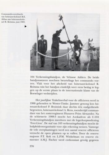 1961 - 2002 Par 31 'De Trakehners' Bron boek 'Huzaren van Boreel' uitg. 2003 auteur lkol A. Rens 12