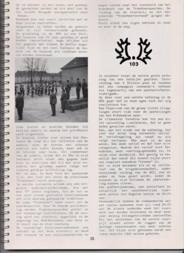 1986 'Contact, wacht uit'... Kroniek van 25 jaar 103 Verkenningsbataljon 25