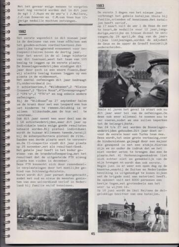 1986 'Contact, wacht uit'... Kroniek van 25 jaar 103 Verkenningsbataljon 45