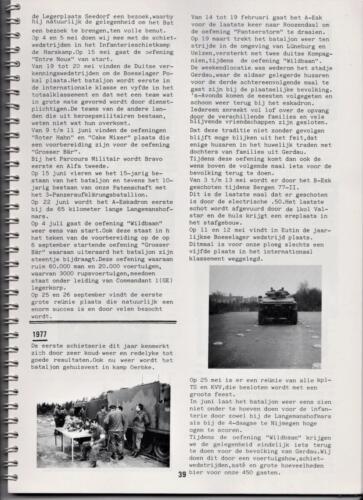 1986 'Contact, wacht uit'... Kroniek van 25 jaar 103 Verkenningsbataljon 39