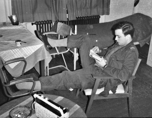 1966-1967 A-Esk 103 Verkbat; Het leven op de legeringskamers. Uit het fotoarchief van Jan Stoffels  (5)