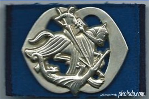 1961 2002 Het Boreel baretembleem zonder zwaluwstaart