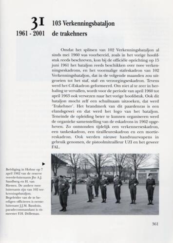 1961 - 2002 Par 31 'De Trakehners' Bron boek 'Huzaren van Boreel' uitg. 2003 auteur lkol A. Rens 3