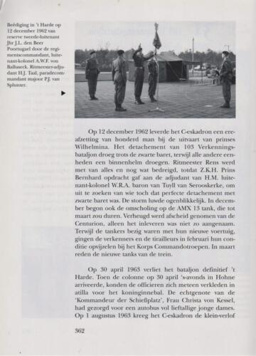 1961 - 2002 Par 31 'De Trakehners' Bron boek 'Huzaren van Boreel' uitg. 2003 auteur lkol A. Rens 4