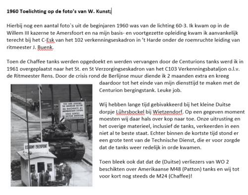 1961 C Esk 0 en SSV Esk 103 Verkbat Verklarende tekst bij inz. Wiebe Kunst