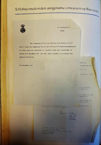 1962 09 08 103 Verkbat Contacten met 11 Hussars P.A.O. Bergen Hohne