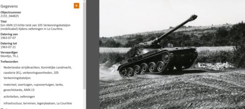1963 07 07 105 Verkbat Mob Een AMX tijdens een oefening in La Coutine Fr