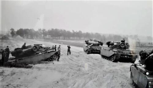1963 1964 Beelden tankbat Centurion tijdperk. Inz Marien Hoorn 6