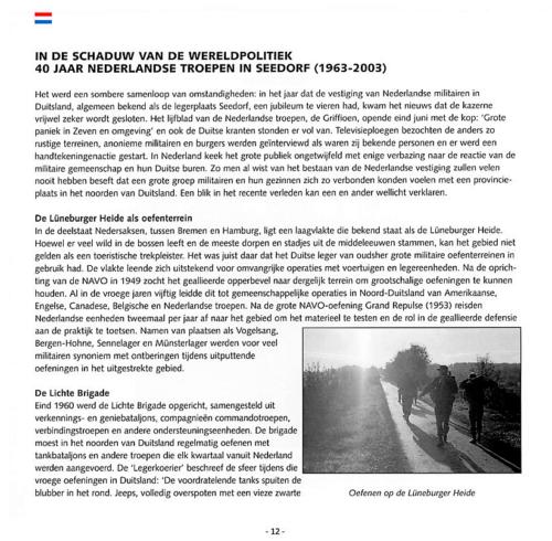 1963 2003 40 jaar Nederlandse troepen in Seedorf Blz. 12