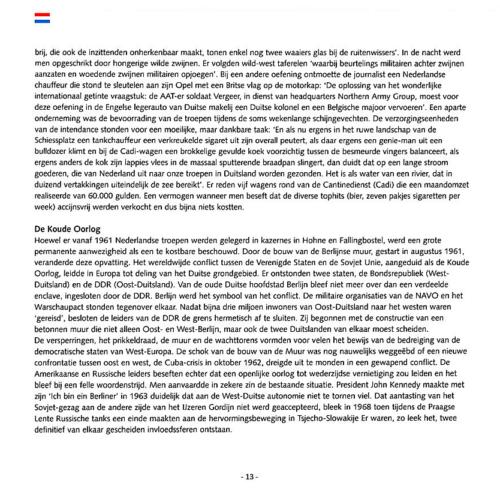 1963 2003 40 jaar Nederlandse troepen in Seedorf Blz. 13
