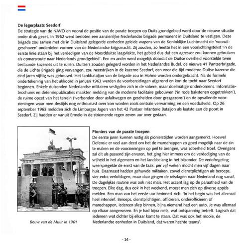 1963 2003 40 jaar Nederlandse troepen in Seedorf Blz. 14