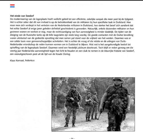 1963 2003 40 jaar Nederlandse troepen in Seedorf Blz. 21