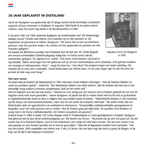 1963 2003 40 jaar Nederlandse troepen in Seedorf Blz. 34