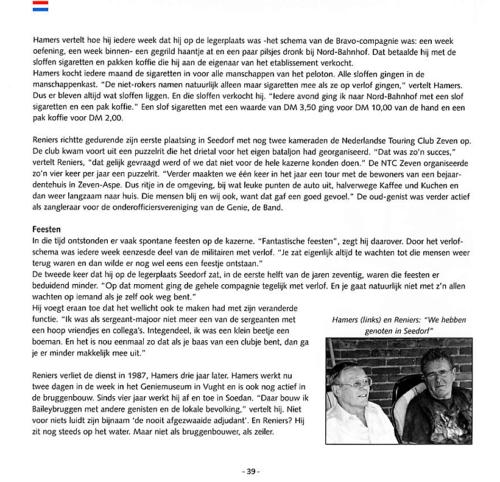 1963 2003 40 jaar Nederlandse troepen in Seedorf Blz. 39