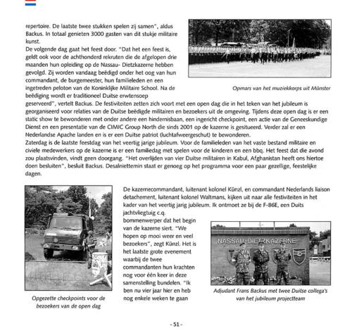 1963 2003 40 jaar Nederlandse troepen in Seedorf Blz. 51