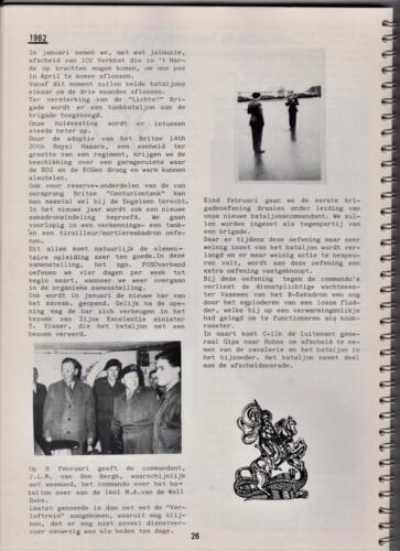 1986 'Contact, wacht uit'... Kroniek van 25 jaar 103 Verkenningsbataljon 26