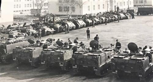 1965 A Esk 103 Verkbat De M113 familie gestald in Hohne