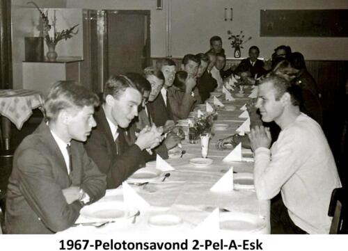 1966-1967 A-Esk 2de pel. 103 Verkbat; Saamhorigheidsmaaltijd. PC Tlnt Meeder 2e li