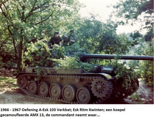 1966 1967 A Esk 103 Eskadron Kwinten een gecamoufleerde AMX 13