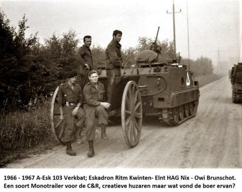 1966 1967 A Esk 103 Verkbat Esk Ritm Kwinten Elnt HAG Nix Owi Brunschot. CR met monotrailer .