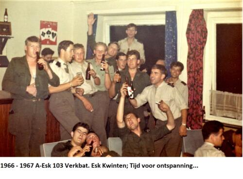 1966 1967 A Esk 103 Verkbat Eskadron Kwinten Tijd voor ontspanning