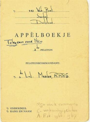 1966 Appelboekje B Esk 2e pel 103 Verkbat Tlnt R Meeder 2