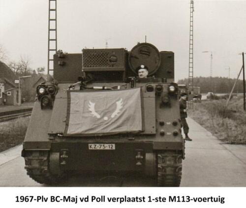 1967 02 103 Verkbat Eerste M113s arriveren in Godenstedt. Fotoboek R Meeder