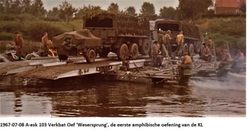 1967 07 08 A esk 103 Verkbat Oef Wesersprung de eerste amfibische oefening van de KL 2