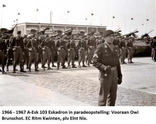 1967 A Esk 103 Verkbat Beedigingsparade voor Tlt Frits Deiters In front Owi Brunschot