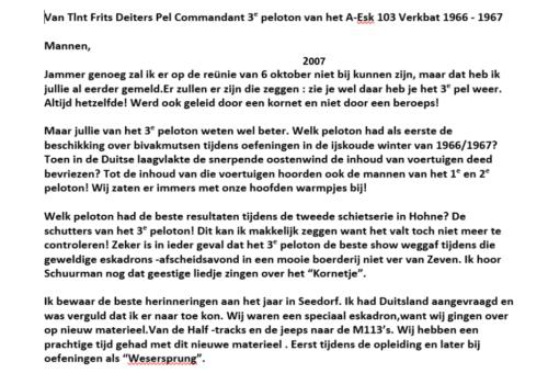 1967 A Esk 3e Pel 103 Verkbat Tekst PC Knt Frits Deiters Herinneringen Esk Kwinten 1