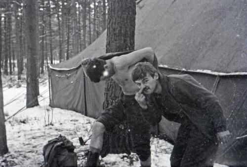 1968 1969 A Esk 103 Verkbat Winters bivak o.a Spaendonk inz. Aad Gordijn