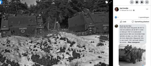 1968 1969 A Esk 103 Verkbat Winters bivak. Rechter foto Ruud v der Sluis. inz. Aad Gordijn