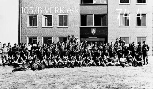 1974-1975 B-Esk 103 Verkbat; Opleiding Bernhardkazerne. Inzender Frans Homminga  (1)
