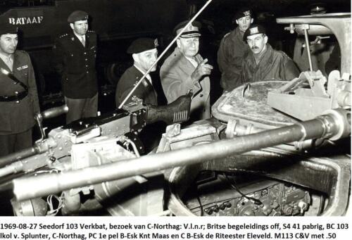 1969-08-27 B-Esk 103 Verkbat BC v Splunter, C-Northag, Esk C Ritm Eleveld en PC 1e pel knt Maas